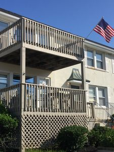 Photo for A 5 min walk to the beach.Beautiful Seawyn condo with deck and off street parkin
