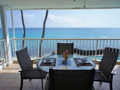 Photo for Ocean Front   Shaded Lanai   AC   Updated   Concierge Included