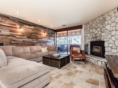 Photo for Newly remodeled, ski-in, ski-out condo with unobstructed mountain views and shared hot tub