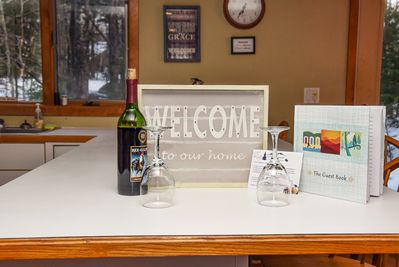 A bottle of complimentary wine will be waiting for you upon your arrival!