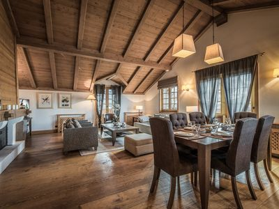 Photo for Duplex idealy located with fireplace in Courchevel