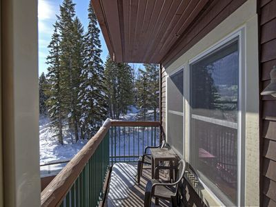 Photo for Some of the best direct ski access on the mountain!! 2 bedroom with beautiful valley views!!