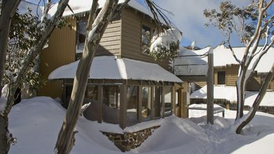 Delightful ski-in, ski-out on-snow location among the snowgums