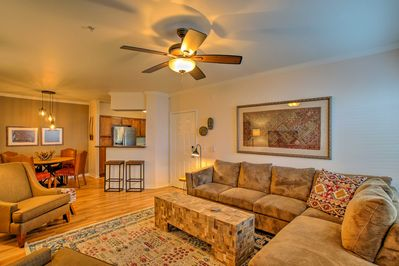 This condo has been professionally designed and features high-end furnishings.