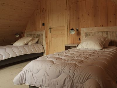 "Photo for Chalet ""la chadeyre"" recently built, free wifi, heating included"