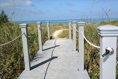 Private walkway - just steps away from the beach!