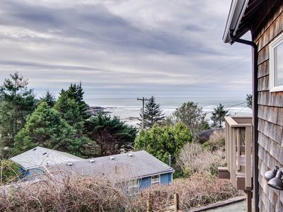 Photo for Delightful home w/ ocean view & private hot tub - just three blocks to beach