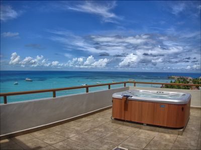 Your private jacuzzi with ocean front views.