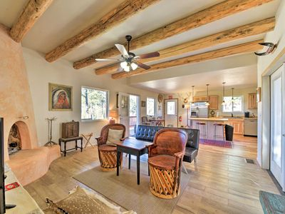 Photo for Lavish Ruidoso Downs Home w/ Deck & Mtn Views
