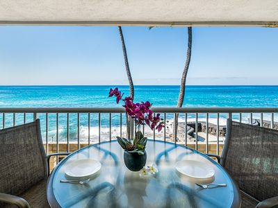 Photo for Oceant Front | Large Lanai | AC | Walk to Beach | Starts at $115/nt