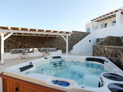 Photo for SUPERIOR LYNIA VILLA PANORMOS MYKONOS, 2 BEDROOMS 2 BATHROOMS, OUTDOOR JACUZZI !