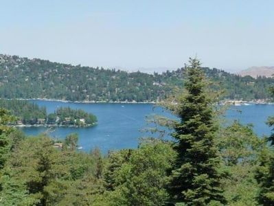 FABULOUS VIEW OF LAKE ARROWHEAD FROM PATIO DECK!