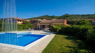 Photo for Beautiful villa with private pool, private garden, garage and fitness room