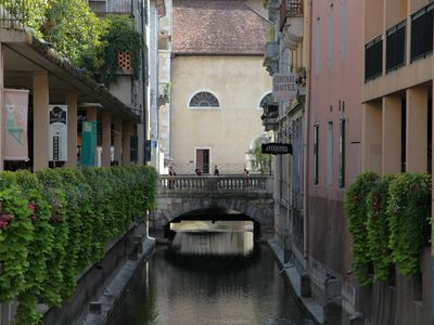 Photo for Hyper center, terrace in the heart of Annecy, breathtaking views of the canal, 4 *