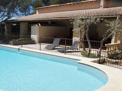 Photo for 2 bedroom Villa, sleeps 5 in Grans with Pool, Air Con and WiFi