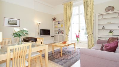 Photo for Delightful bright and airy with high ceilings and access to two small balconies