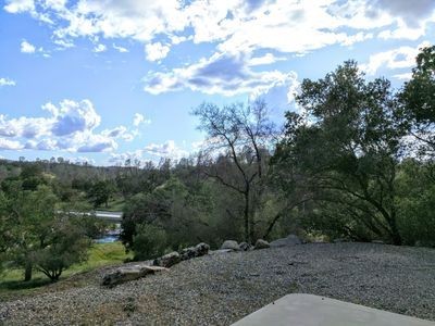One of the many views of the rolling hills from the property