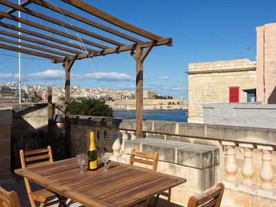 Photo for Traditional Maltese Townhouse, Roof Terrace and Views