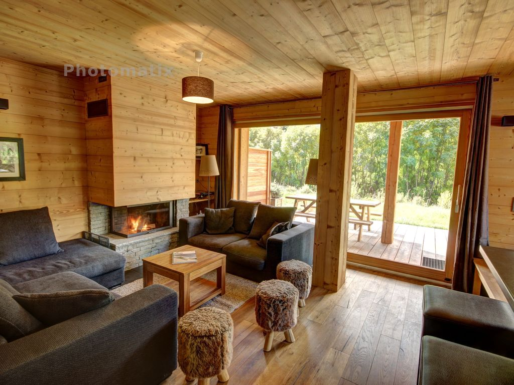 Appartement Dans Chalet Neuf Charme Et Luxe Cheminee Terrasse Et