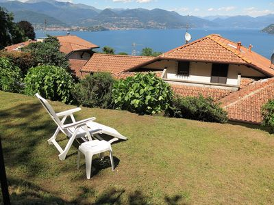 Photo for Thommy apartment in Stresa with wonderful lake view and garden