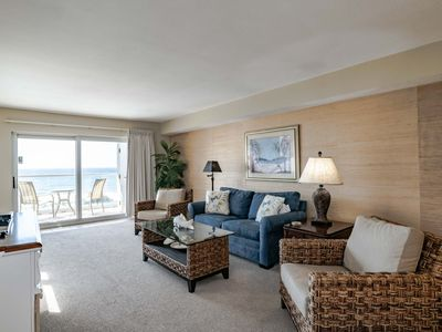 Photo for New Listing! Beachfront Condo with Private Balcony and Beachfront Pool. Close to Shopping, Dining, and More!
