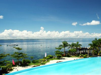 Photo for Mactan Beach Resort, 1 bedrm ,1 bath ,60sq mtr Condo w/ Ocean Views ! 4 pools
