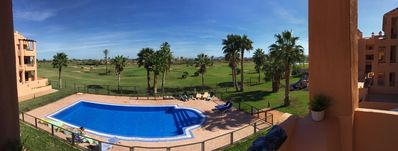 Photo for Pool, golf, sea views