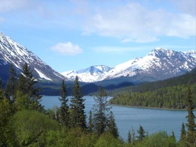 Private Awesome View w/Hot Tub, Wi-Fi,Cell-Alaska:Right Out the Windows