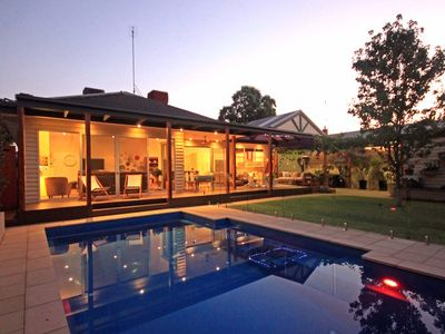 Photo for ACE Echuca Holiday House - Family Favourite *Top Location *Heated Pool *Gas Fire
