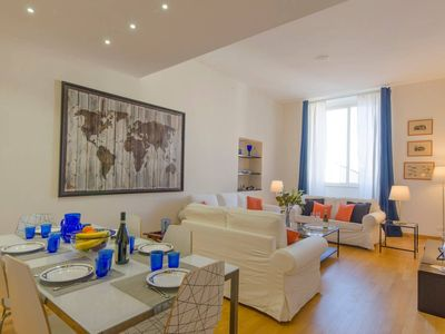Photo for Spacious Rolli apartment in Genoa with WiFi & air conditioning.
