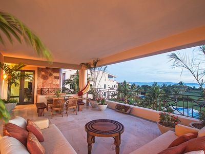 Photo for Ocean view condo in Punta Mita Resort, Beach Club, AC, Free Wifi, Communal Pool, Concierge, Maid