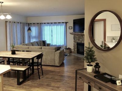 Photo for Family getaway in a spacious mountain view condo in downtown Canmore