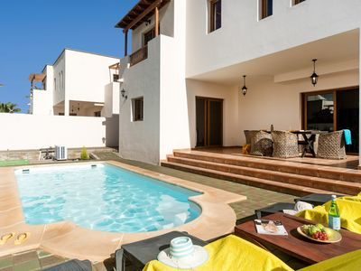 Photo for Villa Las Salinas: Large Heated Private Pool, Walk to Beach, A/C, WiFi