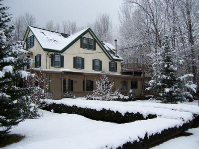 Great winter sports up on Hunter Mt!  Or just sit by the cozy fireplace & relax