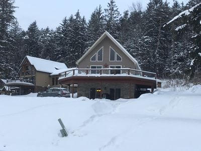 Photo for Stunning 5 bdrm Ski Chalet, view of slopes, 2 min to downtown, Golf & Biking