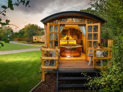 Photo for This Shepherd Hut is the ultimate couples retreat with roll top copper bath tub