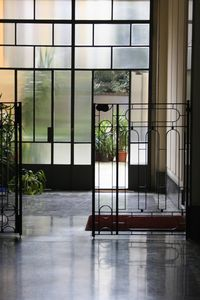 Entrance to the building