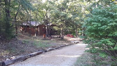 Drive way to cabins