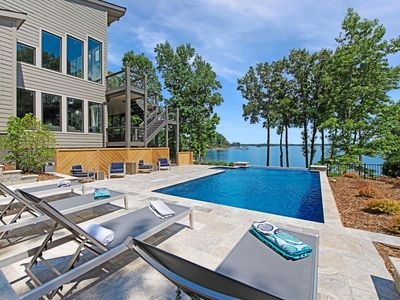 Photo for Lake Norman Getaway - HEATED POOL