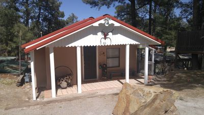 Photo for Quaint, budget friendly apartment just steps to midtown Ruidoso!