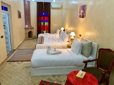 Photo for LUXURY ROOM 4 BEDS --RIAD KOUTOUBIA-- MARRAKECH MOROCCO