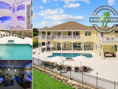 Photo for The House at Reunion | 8,200 Sqft Home | South Facing Pool | Game & Movie Room