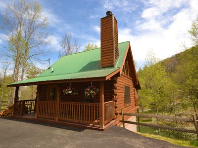 Photo for Wood Burning Fireplace, Hot Tub & Jacuzzi, Flat Screen TV, Air Hockey! Walking Distance to Amenities
