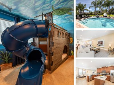 Photo for South-West Facing Back Yard/Outdoor Terrace/Free Shuttle To Disney/Aqua Park