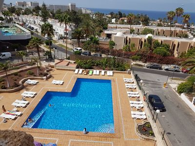 Photo for Borinquen only 280 meters to the beach, balcony with sea views, heated pool,Wifi