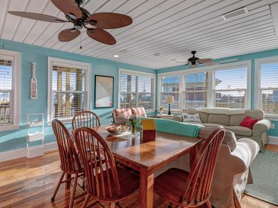 Photo for Bright & beachy, family friendly home w/ deck & gourmet kitchen - 1 dog OK!