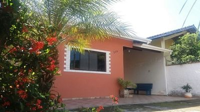 Photo for House in Maranduba one block from the beach sleeps 10 people and 3 cars