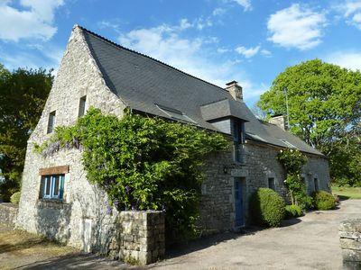 Photo for Spacious Longere,heated swimming  pool, idyllic setting ,  Southern Brittany, FR