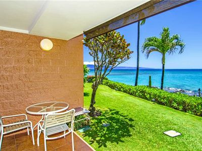 Photo for KUL405 - W Maui 1st Floor, Beach Front, Epic Ocean View Condo in Quiet Resort—1 BR/1BA