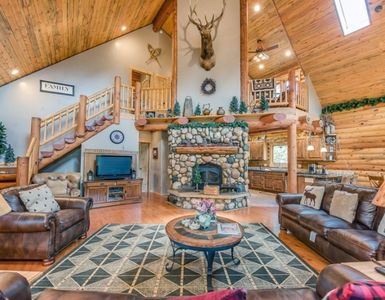Photo for Rocky Mountain Log Home on Fish Creek - Beautiful Log Home along the creek and the pines